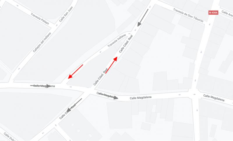 Plano reordenación calle