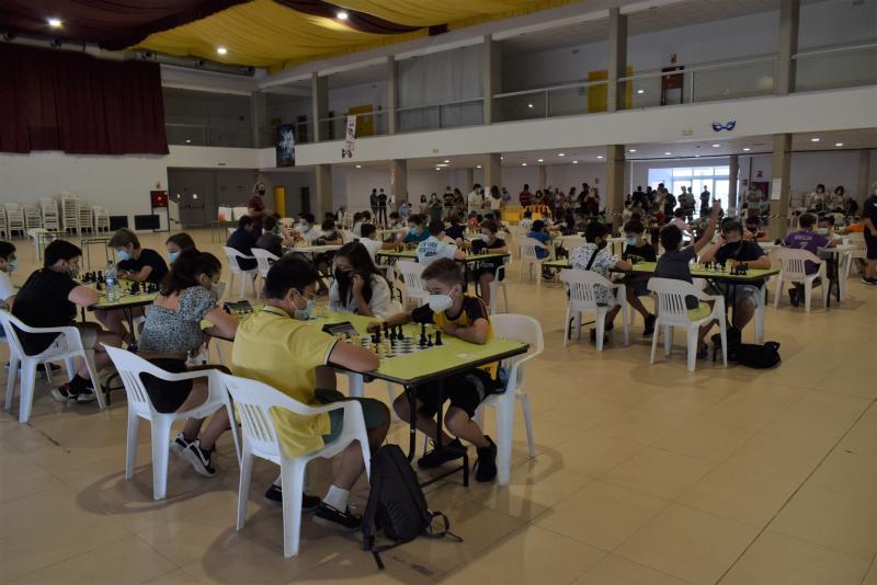 Participantes en el campeonato de Ajedrez